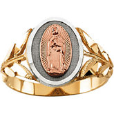 Tri-Color Our Lady of Guadalupe Ring