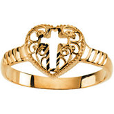 Cross Heart Ring