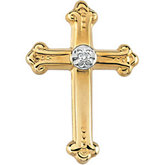 Diamond Cross Lapel Pin