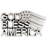 God Bless America Lapel Pin