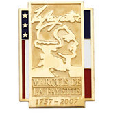 Marquis de La Fayette Commemorative Lapel Pin
