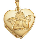 Heart Locket with Angel
