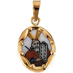 Moses Hand-Painted Porcelain Medal