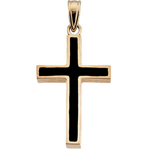 Cross with Black Epoxy