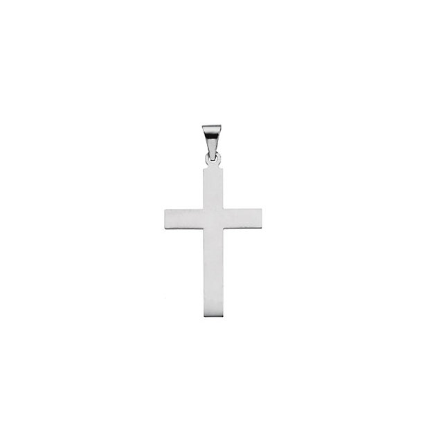 Sterling Silver 28x18mm Cross Pendant