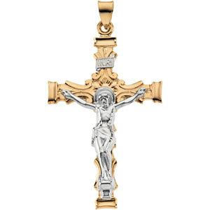 Two-Tone Crucifix Pendant