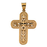 Two Tone Reversible Cross Pendant