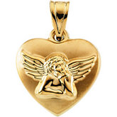 Angel Heart Hollow Pendant