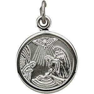 Round Baptism Medal