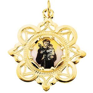 St. Anthony Framed Enamel Pendant