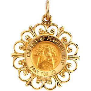 Round Our Lady of Perpetual Help Medal