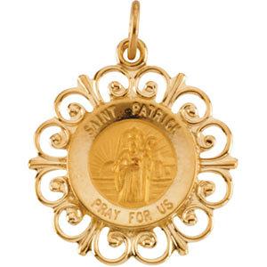 Round St. Patrick Medal
