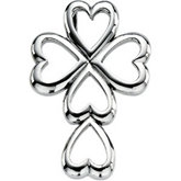 Heart Design Cross Pendant