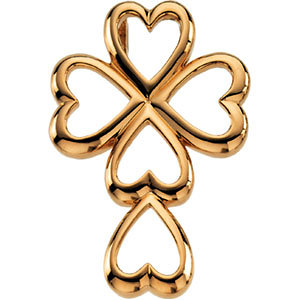Heart Design Cross Pendant