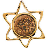 Star Slide Pendant with Widow's Mite Coin