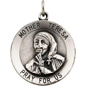 Mother Teresa Round Pendant Medal