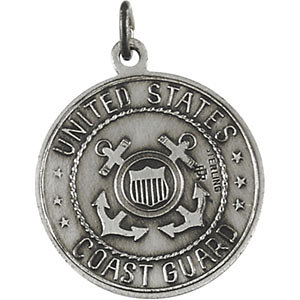 Sterling Silver 18mm Saint Christopher U.S. Coast Guard Medal