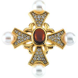 Cross Brooch/Pendant