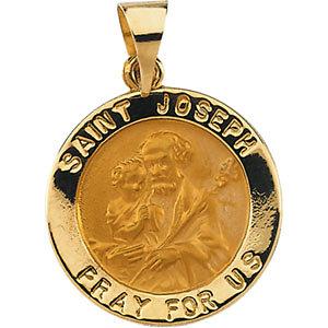 Hollow Round St. Joseph Medal