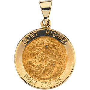 Hollow Round St. Michael Medal