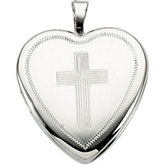 Heart Locket with Cross