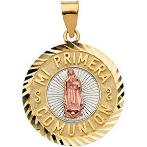 Tri-Color Mi Primera Comunion (First Holy Communion) Medal