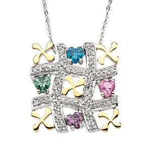 Tic-Tac-Toe Necklace