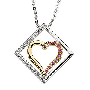 Pink Sapphire & Diamond Purposeful Heart™ Pendant
