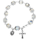Diamond Cut Crystal Rosary Bracelet