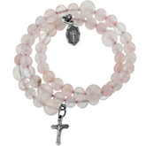 Rose Quartz Wrap Rosary