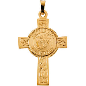 U.S. Marines Corps Cross Pendant