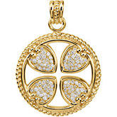 3/4 cttw Diamond Maltese Rope Cross
