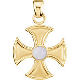 Maltese Cross with Chalcedony