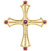 Genuine Amethyst and Ruby Cross