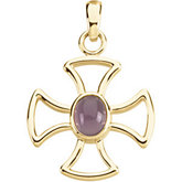 Maltese Cross Pendant Mounting for Oval Center