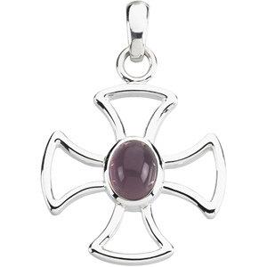 Maltese Cross with Chalcedony