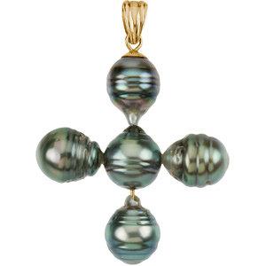 Tahitian Pearl Cross