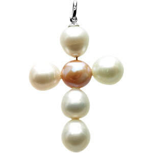 Freshwater Cultured Pearl Cross Pendant