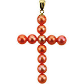 Freshwater Cultured Pearl Cross Pendant