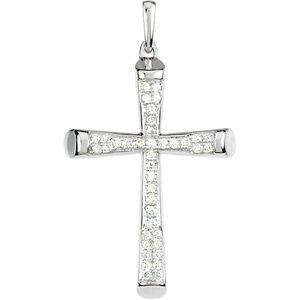 1/4 CTW Diamond Micro Pave Cross