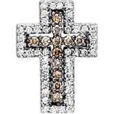 1/2 ct tw Diamond Cross