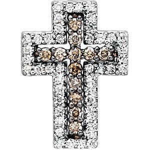 1/2 CTW Diamond Cross