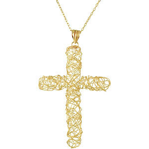 Filigree Cross with Chain