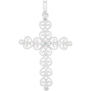 1/10 CTW Diamond Cross Pendant