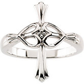 Cross/Hearts Ring with Diamond