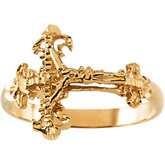 Ladies Crucifix Ring