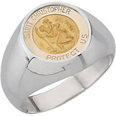 St. Christopher Round Medal Ring