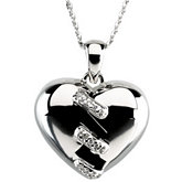 Broken Heart Pendant & Chain