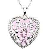Breast Cancer Awareness Pendant & Chain