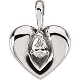 Mark of Love Diamond Pendant